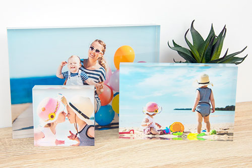 Acrylic Glass Photo Block - 1ClickPrint